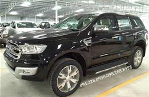 Bán Ford Everest đời 2016, màu đen, nhập khẩu