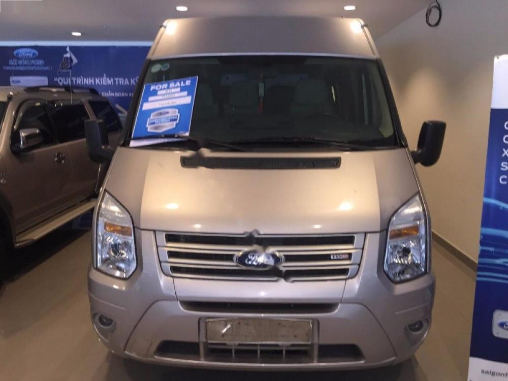Cần bán lại xe Ford Transit 2.4L XL năm 2015, màu bạc, giá chỉ 680 triệu
