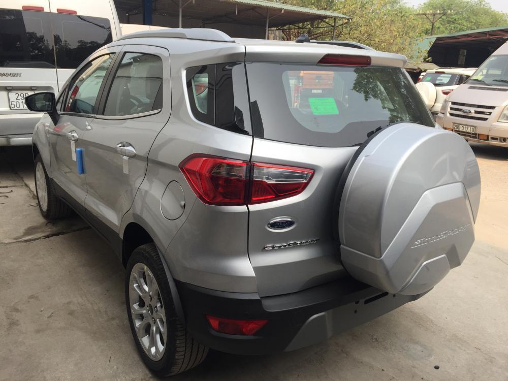Giao ngay Ford Ecosport Titanium 1.5L năm 2018, màu bạc, hỗ trợ trả góp 80%, giao xe ngay