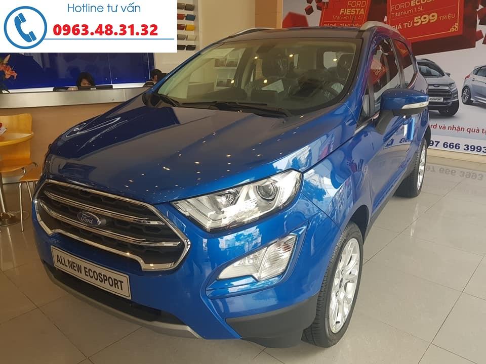 Hot! Giao ngay Ford Ecosport Titanium 1.0L đời 2018 màu xanh, hỗ trợ trả góp 80%