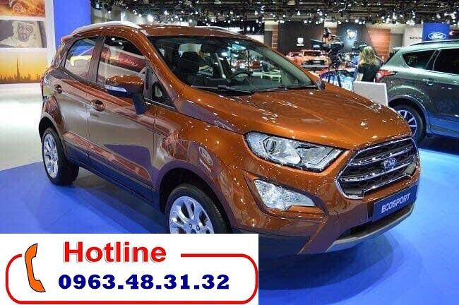 Cần bán lại xe Ford EcoSport Titanium năm 2018, màu Đỏ Đồng, Hỗ trợ trả góp 80%