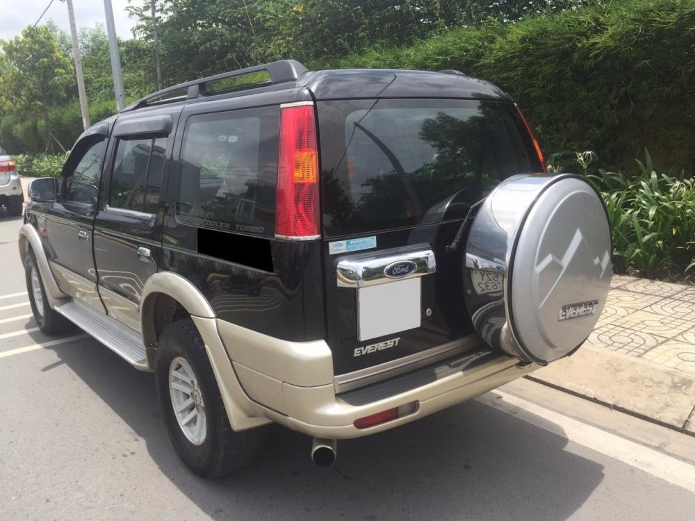 Cần bán xe Ford Everest số sàn đời 2007 màu đen, máy dầu