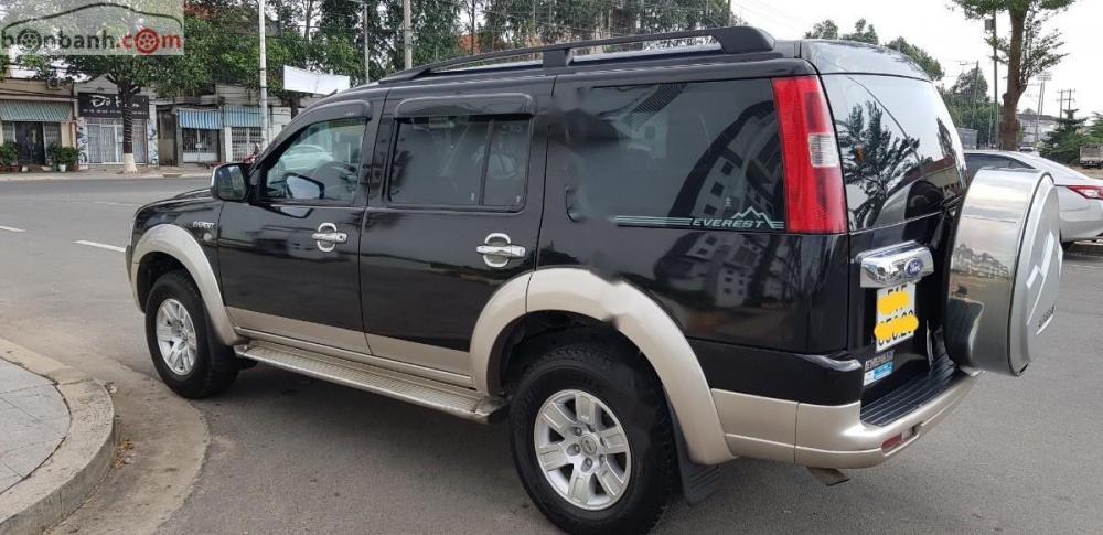 Cần bán xe Ford Everest 2.5 MT 2007, màu đen, giá 358tr