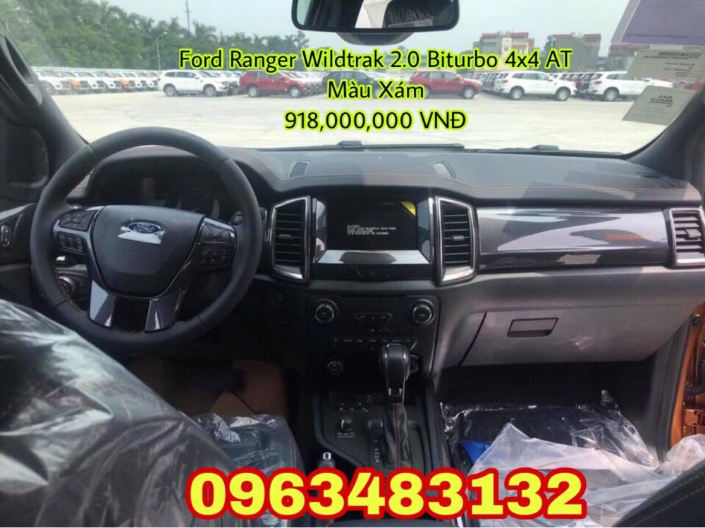 Bán Ford Ranger Wildtrak 2.0 Biturbo 4x4 AT 2019 màu ghi xám, giao xe ngay, hỗ trợ trả góp 80%