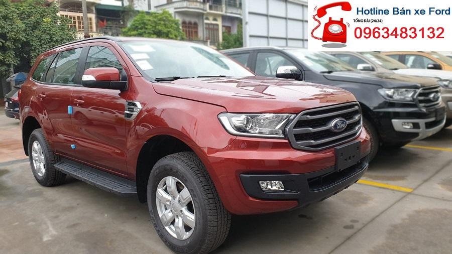 Bán xe Ford Everest Ambiente 2.0L AT 4x2 đời 2019, màu đỏ, xe nhập Thái Lan - SUV 7 máy dầu
