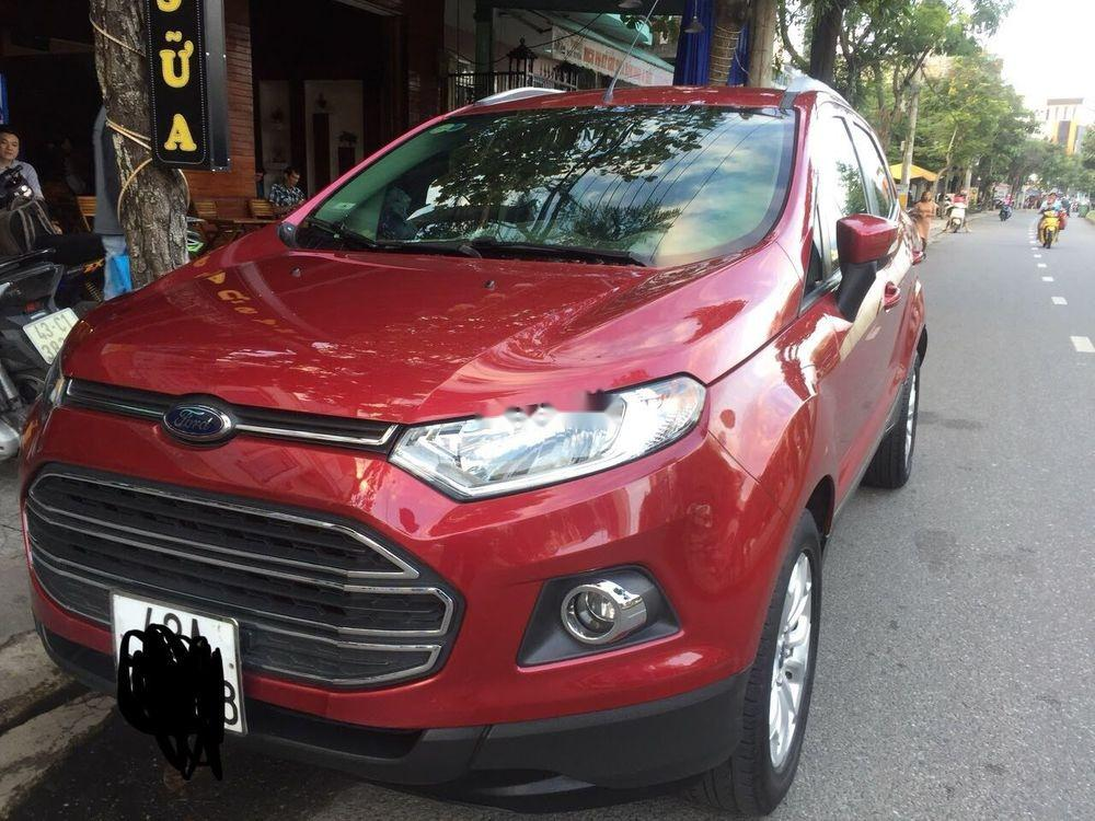 Bán Ford EcoSport sản xuất 2017, màu đỏ, xe nhập, bản full