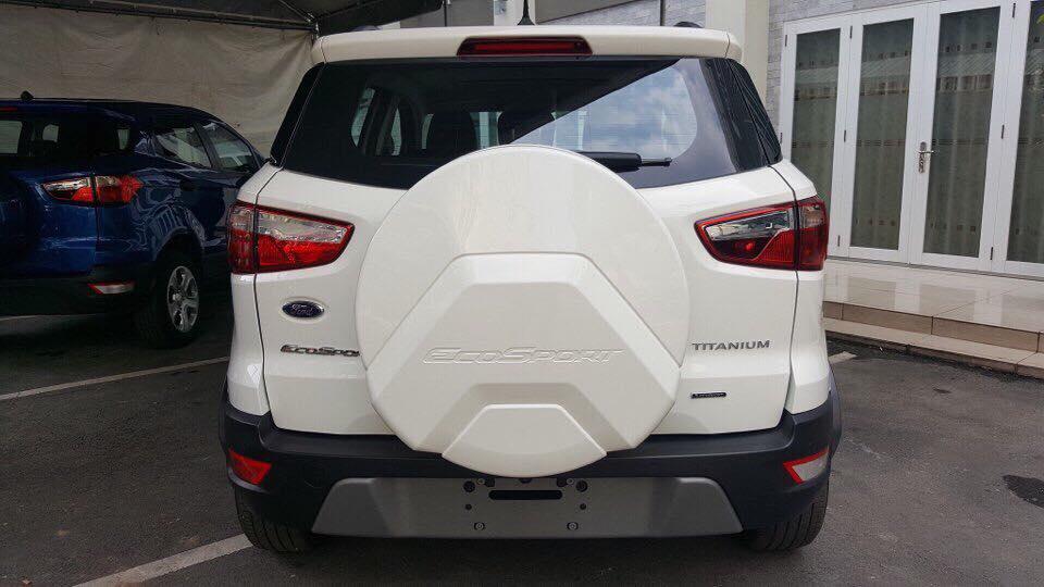 Bán xe Ford EcoSport 1.5 titanium 2019, màu trắng, Hotline: 0766120596