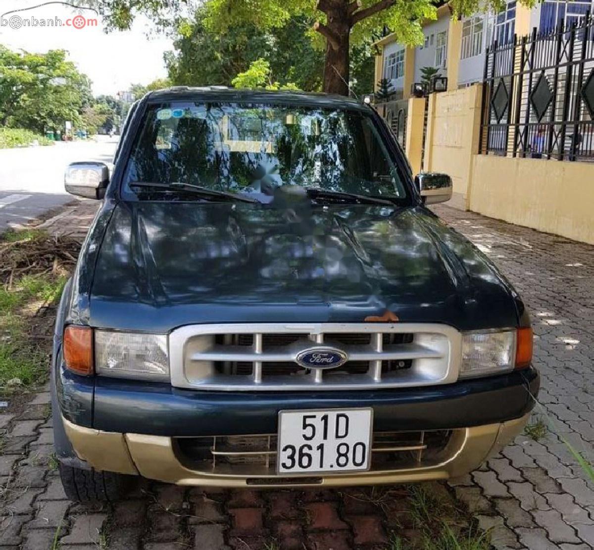 Bán xe cũ Ford Ranger XLT 4x4 MT sản xuất 2002, màu xanh lam