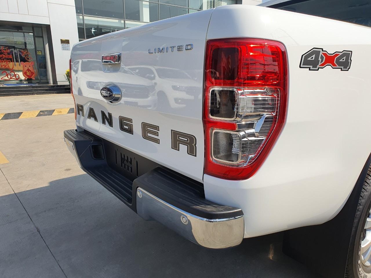 Bán xe Ford Ranger XLT Limited đời 2020, màu trắng, xe nhập