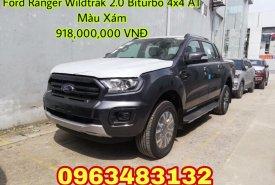 Bán Ford Ranger Wildtrak 2.0 Biturbo 4x4 AT 2019 màu ghi xám, giao xe ngay, hỗ trợ trả góp 80% giá 918 triệu tại Hà Nội